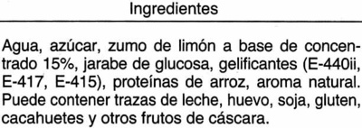 Sorbeye de limon - Ingredients