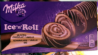 Ice'n'Roll Glaces Chocolat-Vanille - Produit - fr