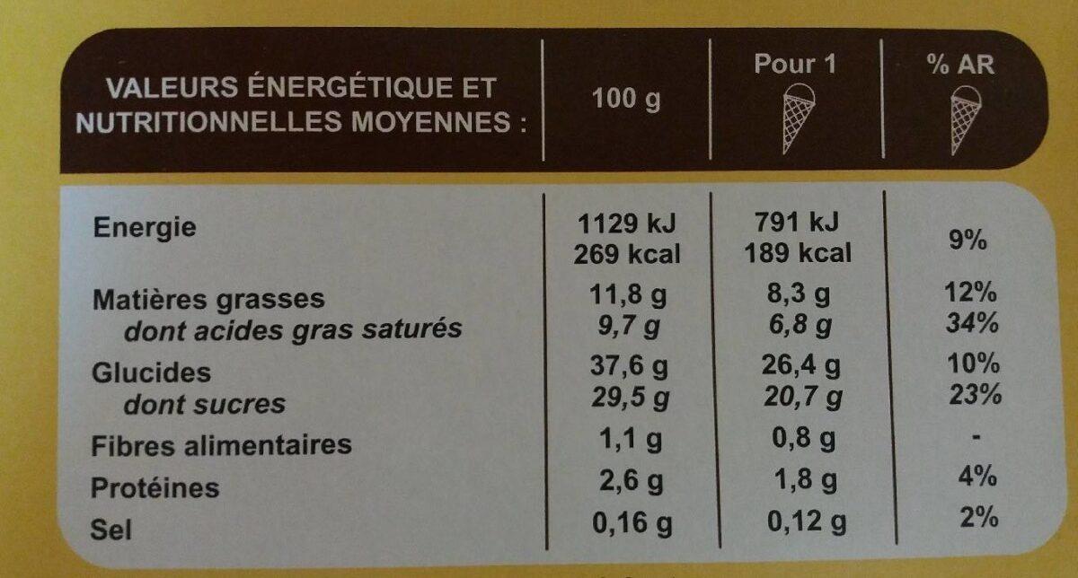 8 cônes vanille - Voedingswaarden