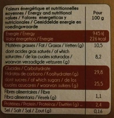 Exquise 3 chocolats - Informations nutritionnelles - fr