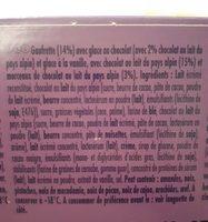 Cônes chocolat & vanille - Ingrédients - fr