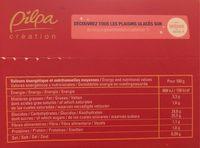 Bûche Framboise Pistache - Nutrition facts