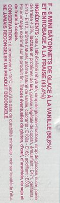 Glaces vanille fraise Barbie - Ingredients - fr