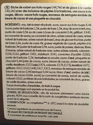 Passionée vanille fruits rouges - Ingredients - fr