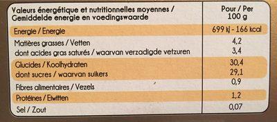 Passionée vanille fruits rouges - Nutrition facts - fr
