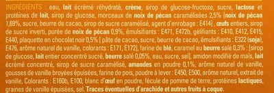 Création Pécan Vanille - Ingredients