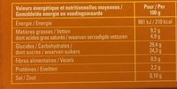 Création Pécan Vanille - Nutrition facts - fr