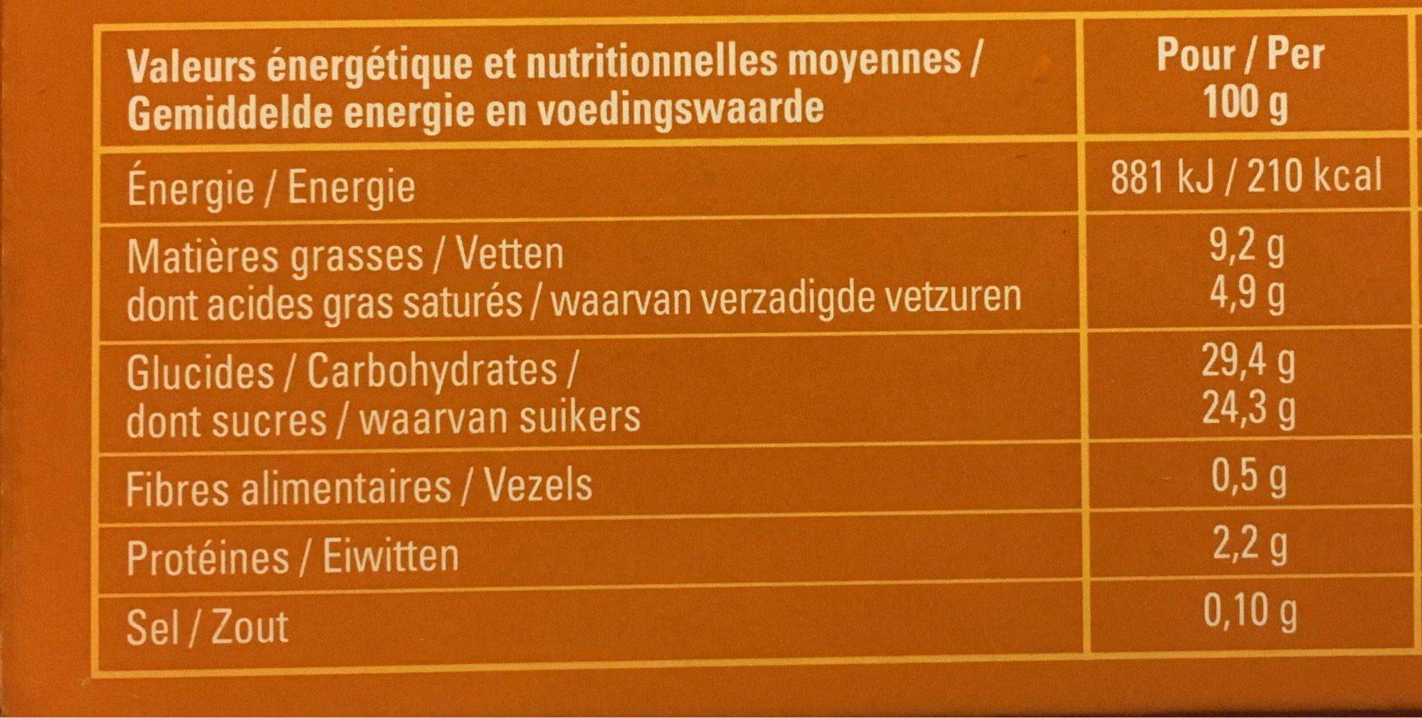 Création Pécan Vanille - Nutrition facts