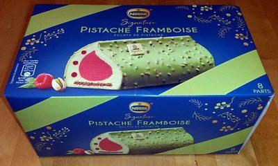 Buche Pistache Framboise - éclats de pistache - - Product