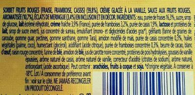 Vacherin fruits rouges - Ingrédients - fr