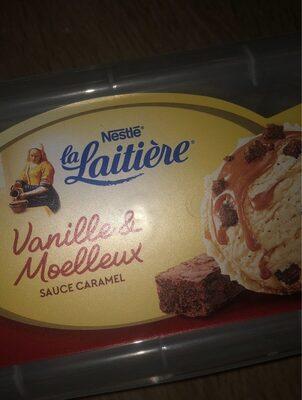 Crème glace vanille moelleux, sauce caramel - Produit