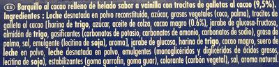 Cono helado - Ingredientes