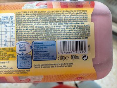 Helado fresas con nata - Ingredientes - es