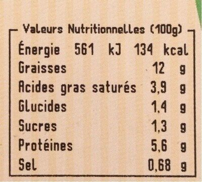 6 tomates farcies - Informations nutritionnelles - fr