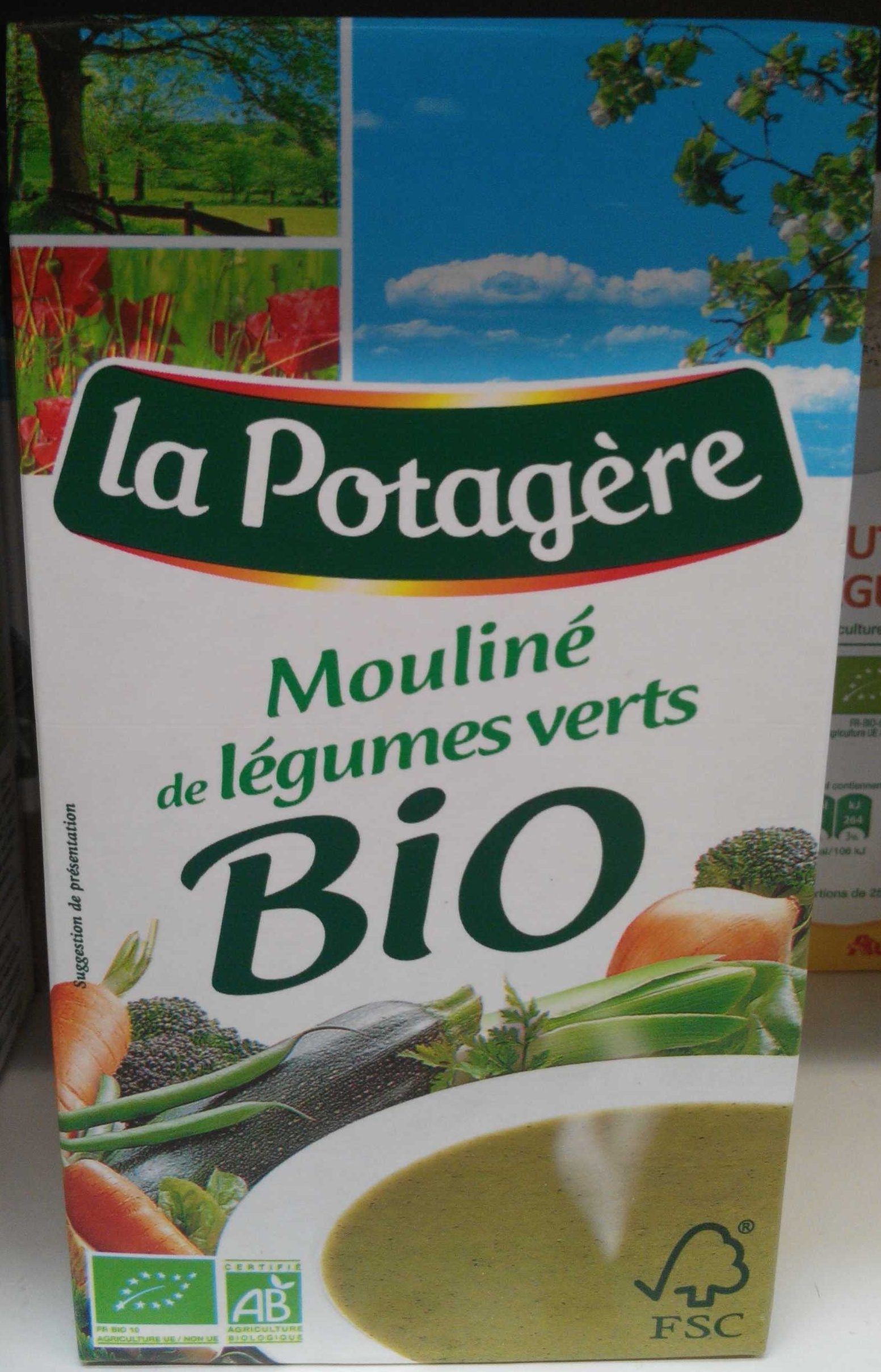 Mouliné de légumes verts bio - Product - fr