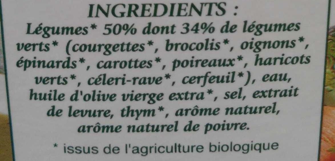 Mouliné de légumes verts bio - Ingrediënten - fr