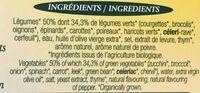 Mouline Legumes Verts Bio La Potagere - Ingrediënten - fr