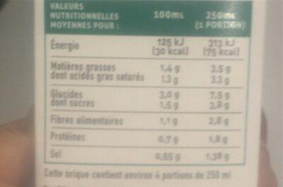 Soupe  Légumes de France - Informations nutritionnelles - fr