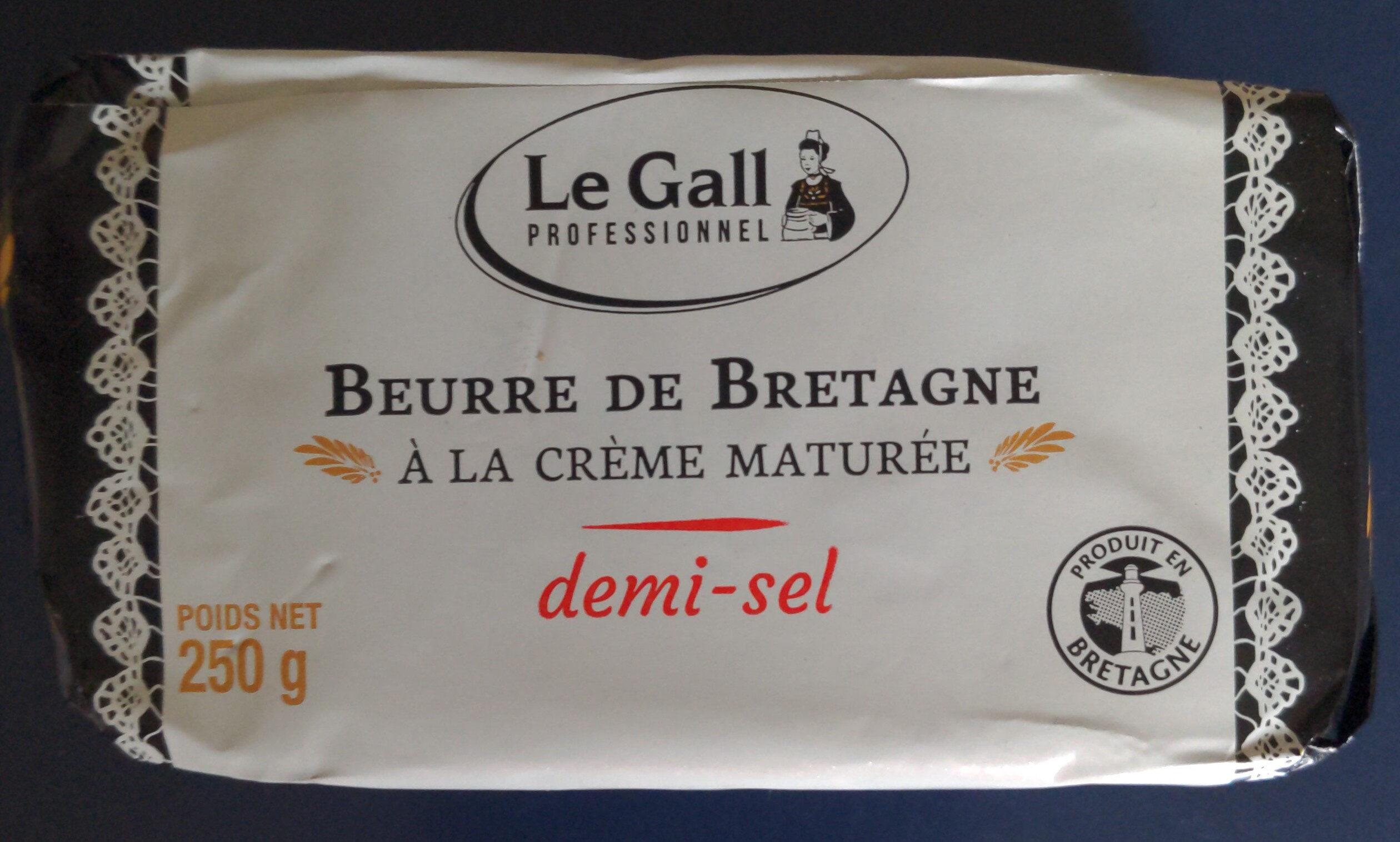 Beurre de Bretagne à la crème maturée demi-sel - Produit - fr