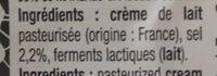 Beurre de Bretagne à la crème maturée demi-sel - Ingrédients - fr