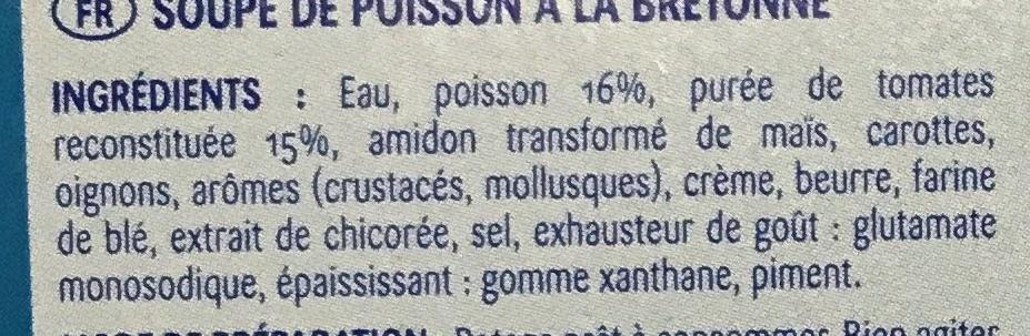 Soupe de poisson à la Bretonne - Ingrédients