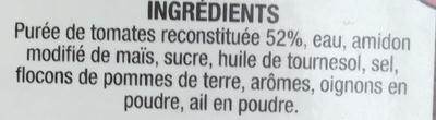Vélouté de tomates - Ingrédients - fr