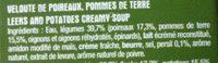 Velouté de Poireaux Pommes de Terre - Ingrediënten - fr