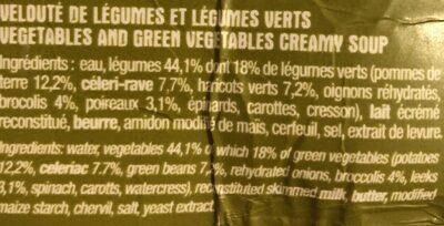 Velouté de légumes verts - Ingredients - fr