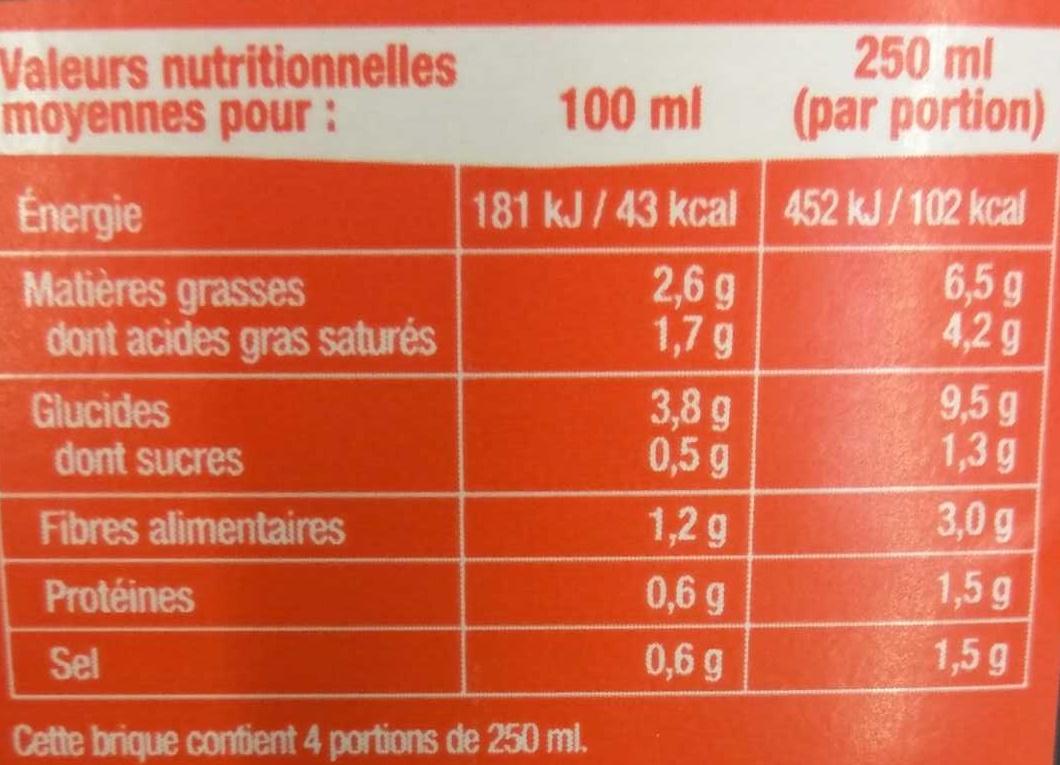 Carottes Potiron et Noisettes EDITION LIMITEE ! - Informations nutritionnelles