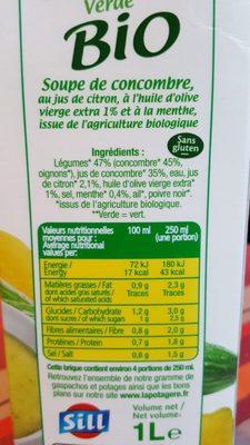 Gaspacho Verde - Ingredients