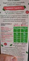 Jus De Pamplemousse Rose - Nutrition facts - fr