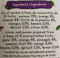 Jus multifruits - Ingrédients