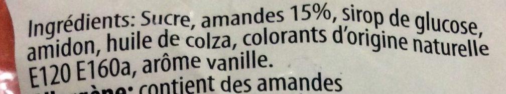 Pralines aux Amandes - Ingredients - fr