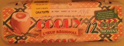 Oeufs (x 12) calibre Moyen - Coquy - Product - fr