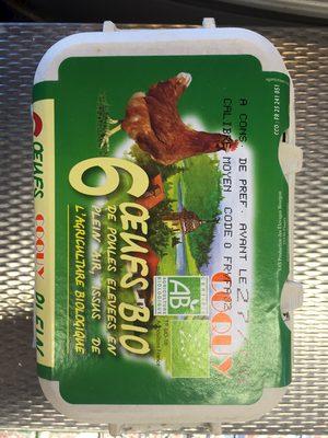 Œufs bio de poules élevées en plein air - 1