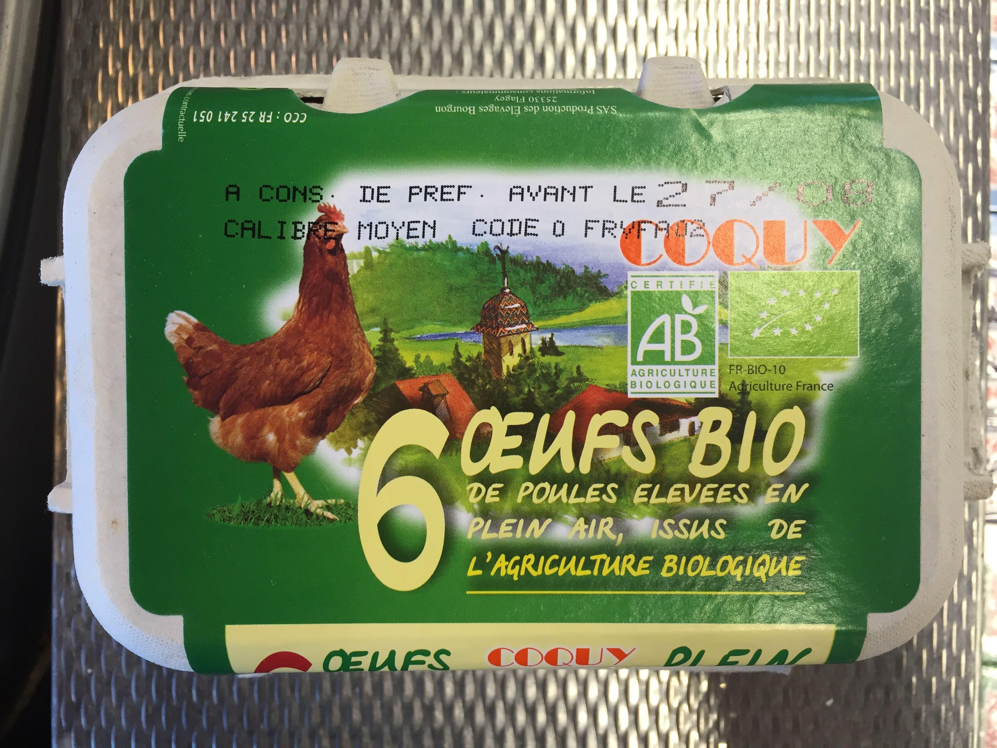 Œufs bio de poules élevées en plein air - Product - fr