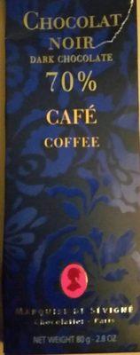 Chocolat noir 70 % Café - Produit - fr