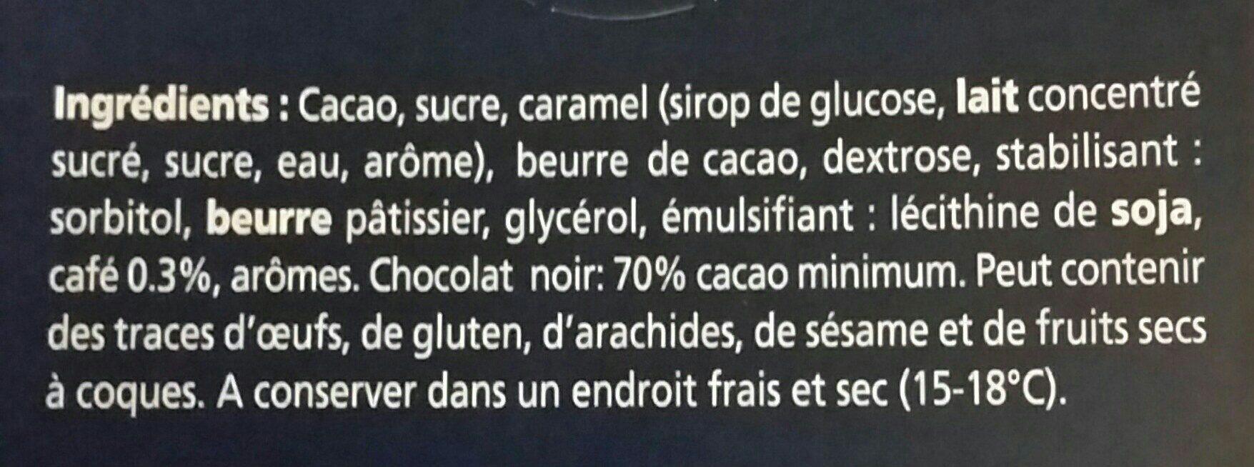 Chocolat noir 70 % Café - Ingrédients - fr