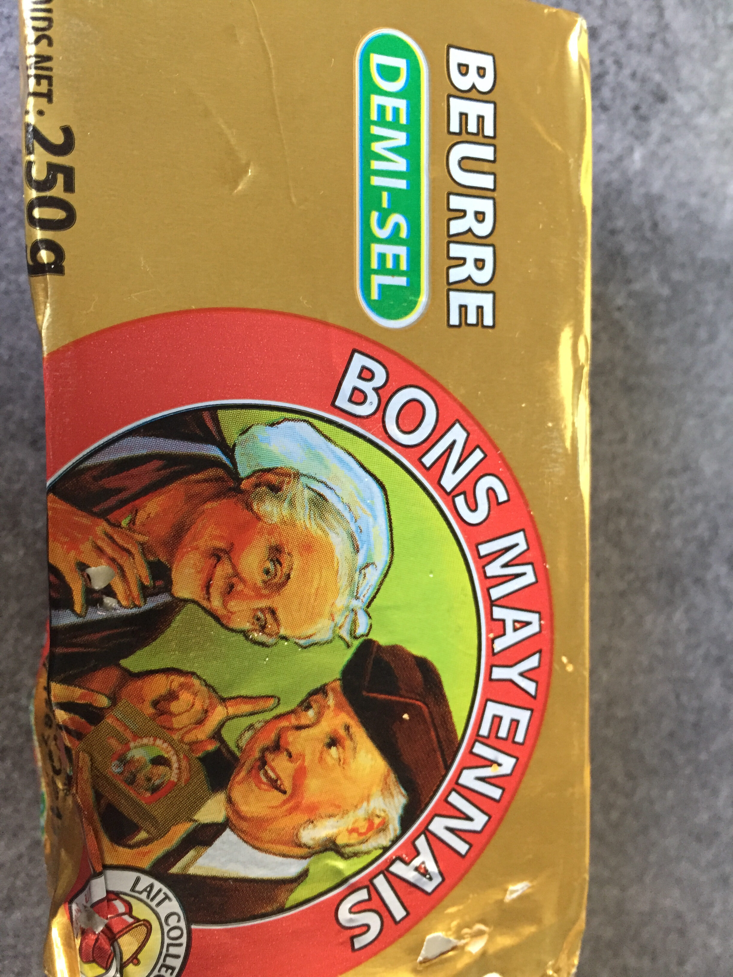 Bons Mayennais Beurre demi sel la plaquette de 250 g - Produit