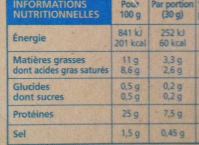 Bons Mayennais Le léger (11% MG) - Informations nutritionnelles
