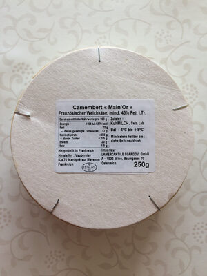 Camembert Main'Or - Informations nutritionnelles - fr