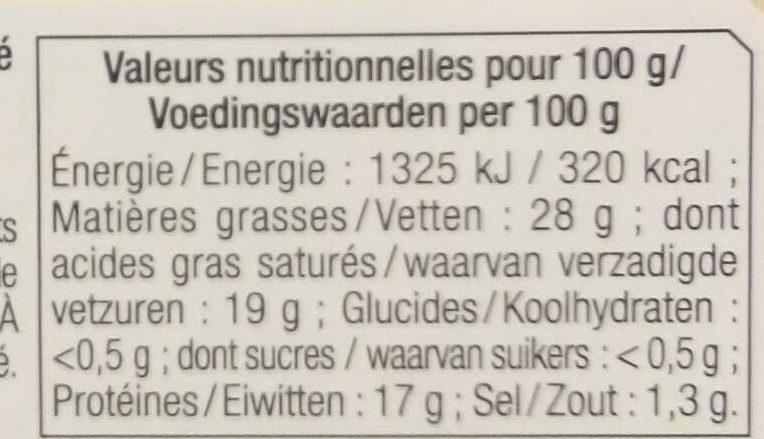 Bons Mayennais à chauffer et picorer Nature - Informations nutritionnelles