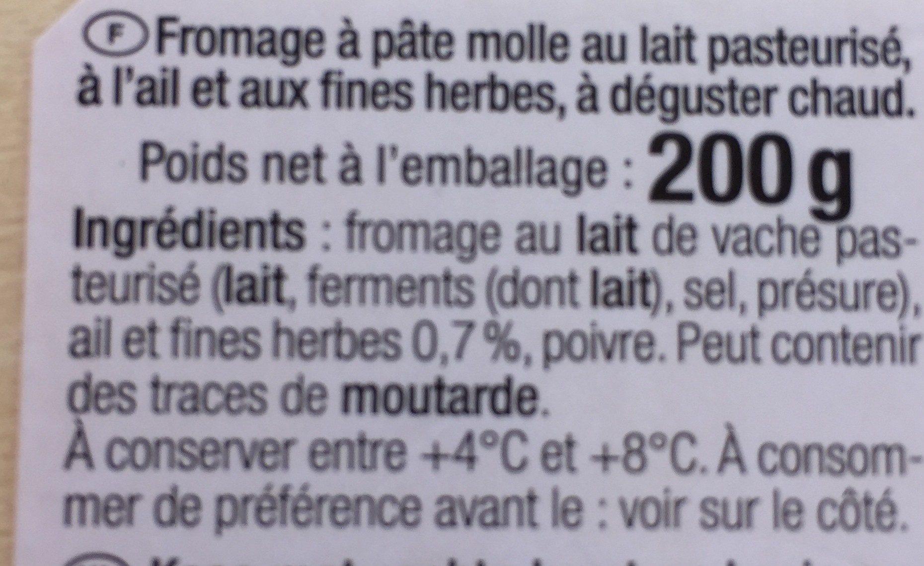 Bons Mayennais à chauffer et picorer Ail & fines herbes - 200 g - Ingrédients