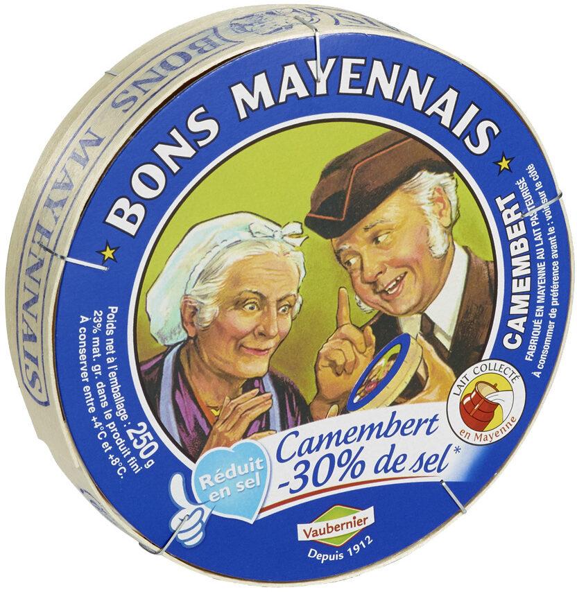 Camembert -30% de sel - Product - fr