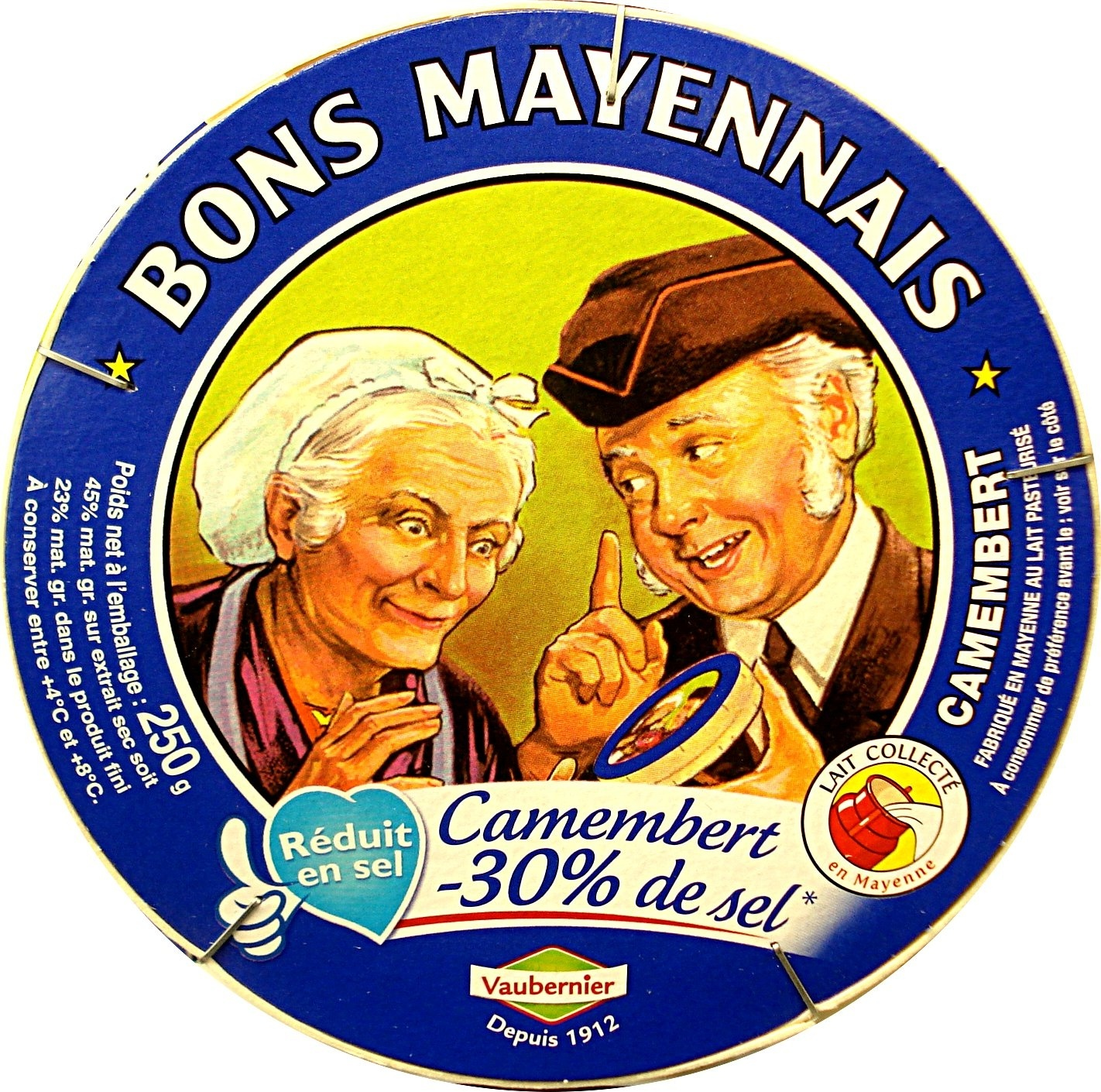 Camembert (23% MG) - 30% de sel - Product - fr