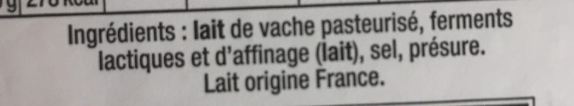 Camembert +10% gratuit - Ingrédients