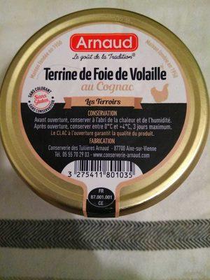 Terrine de foie de volaille au cognac - Produit