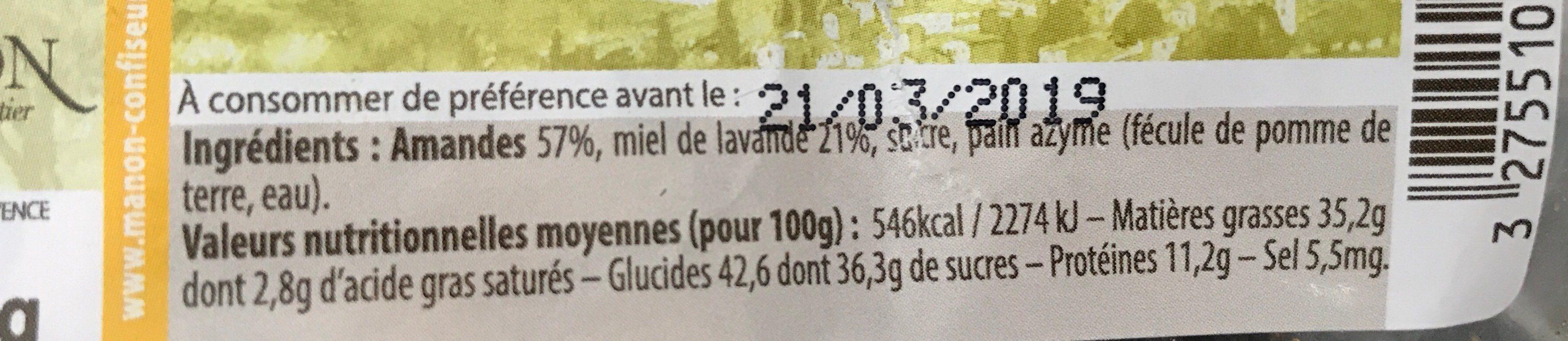 Nougat de provence - Ingrédients