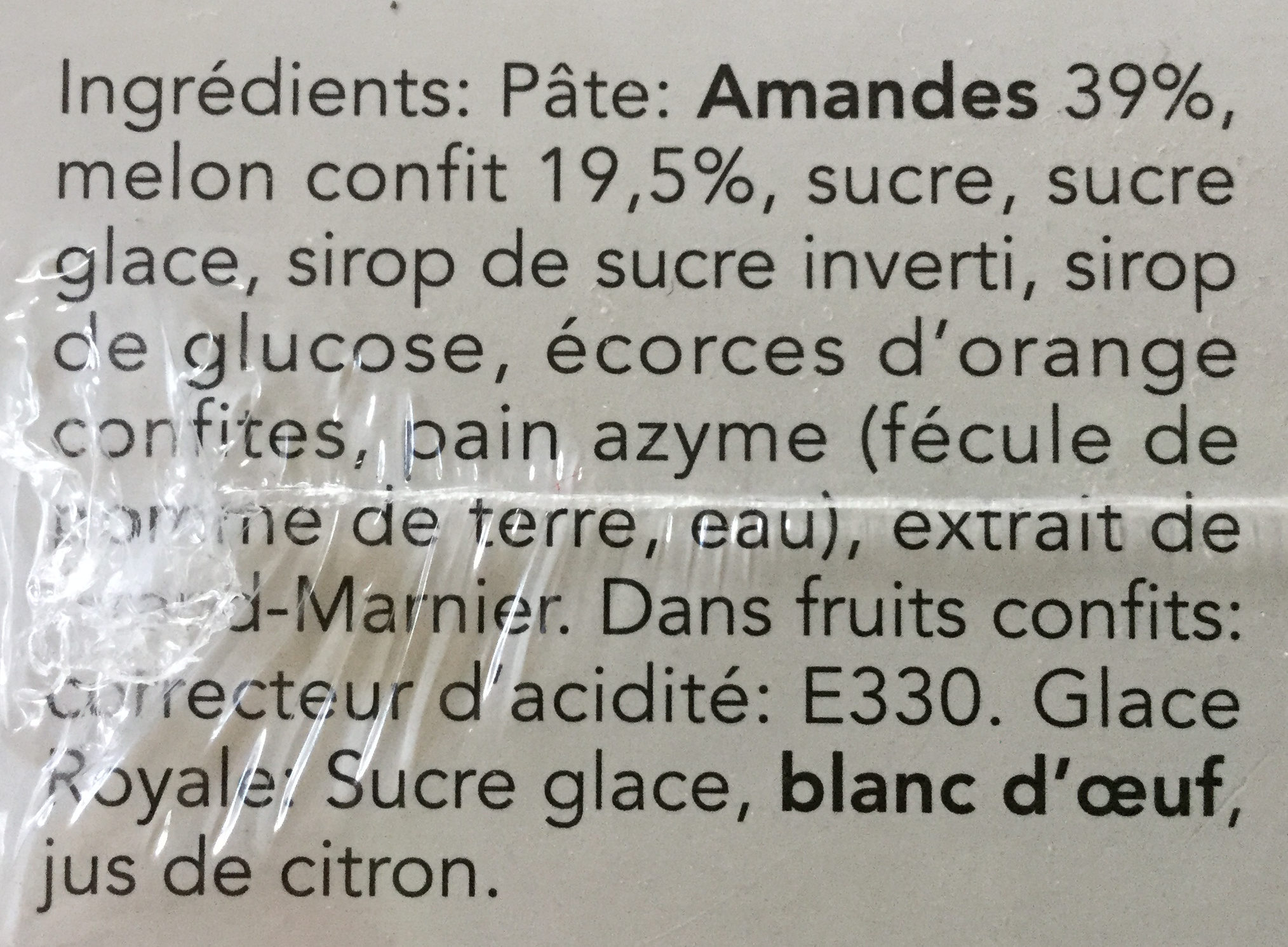 Calissons de Provence - Ingrediënten - fr