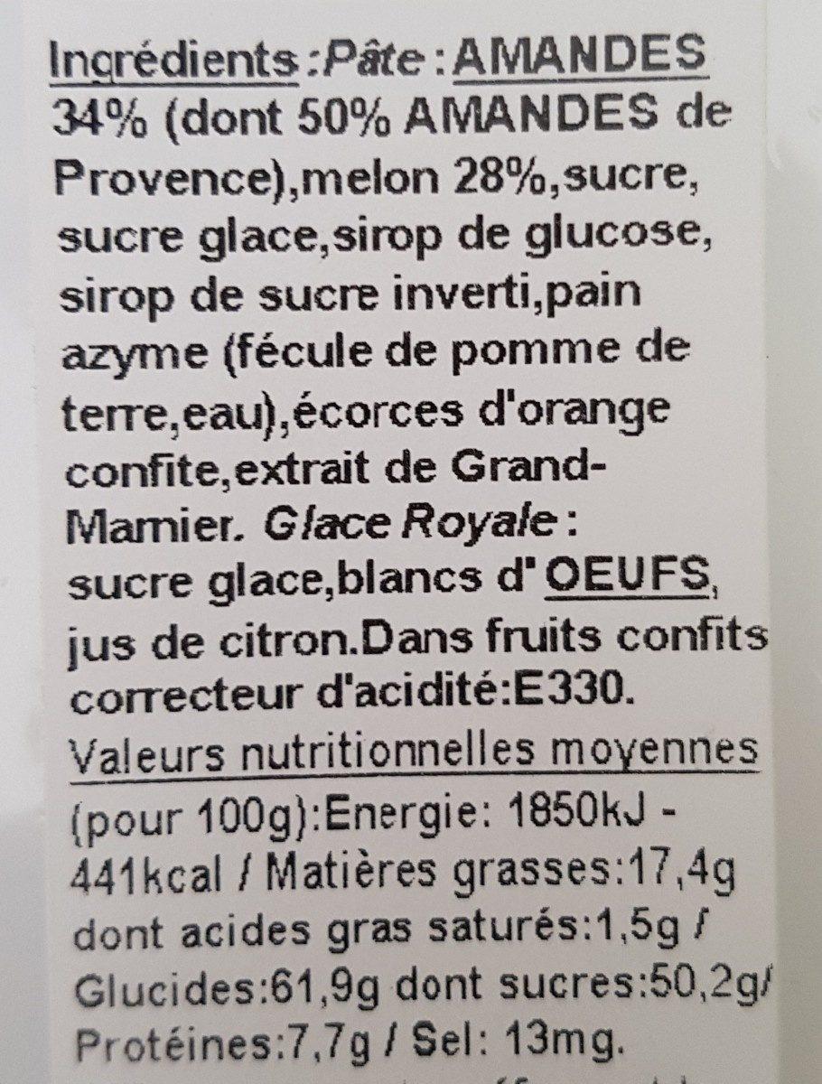 Véritables CALISSONS de Provence - Ingredients